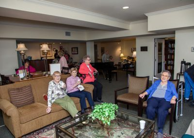Our lobby is a great place to enjoy friendly conversation along with fresh coffee and cookies.