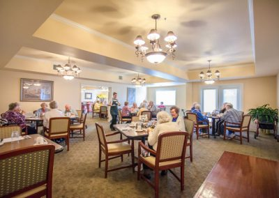 Restaurant-style dining in our beautiful dining room.
