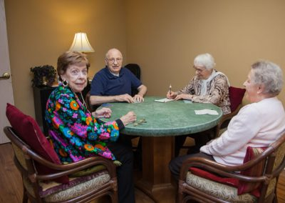 Enjoy a lively card game in our card room.