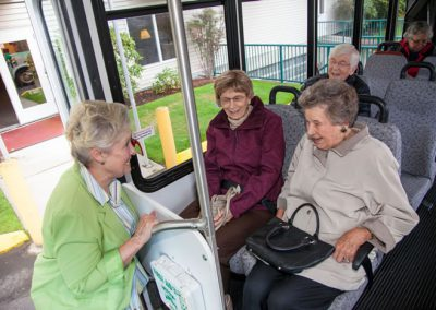 In addition to daily activities at Foundation House, hop aboard our comfortable shuttle for fun and interesting outings, too.